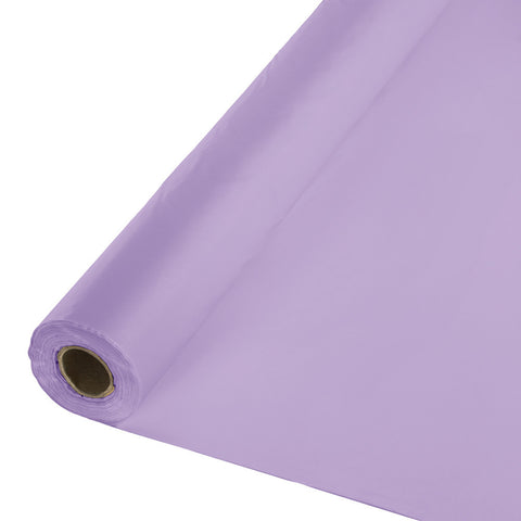 "Lavender Bulk Party Plastic Tablecloth Rolls 40"" x 100' (1/Case)-Solid Color Party Tableware-Creative Converting-1-"