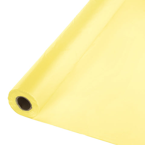 "Yellow Bulk Party Plastic Tablecloth Rolls 40"" x 100' (1/Case)-Solid Color Party Tableware-Creative Converting-1-"