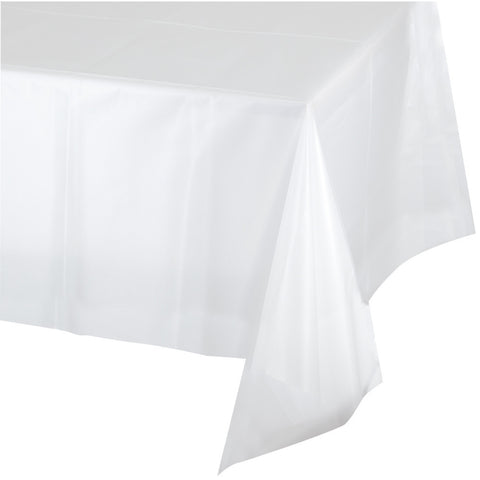 "Clear Bulk Party Plastic Tablecovers 54"" x 108"" (12/Case)"