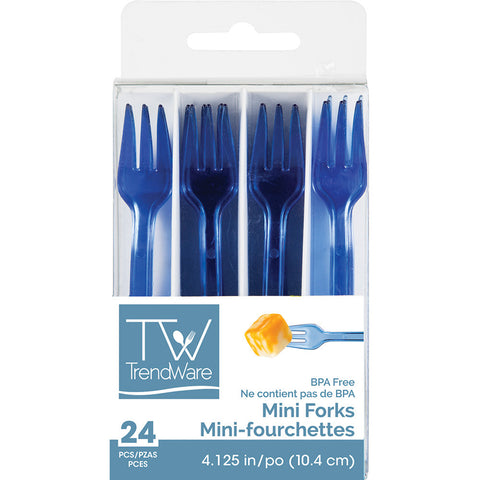 Blue Mini Disposable Appetizer Forks
