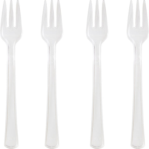 Clear Mini Disposable Appetizer Forks-Disposable Catering Supplies-Creative Converting-144-