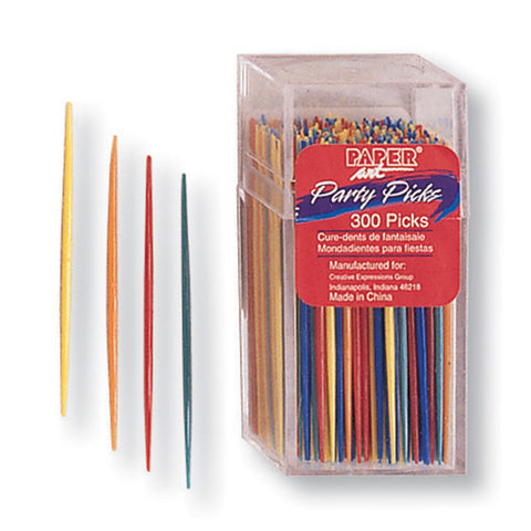 Assorted Color Appetizer Party Plastic Picks 2.75""