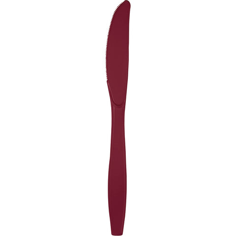 Burgundy Bulk Party Knives (288/Case)