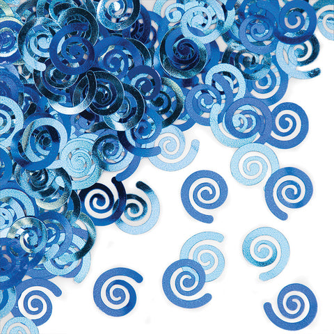 Blue Bulk Party Confetti Swirls
