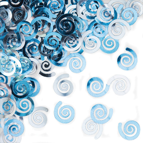 Pastel Baby Blue Bulk Party Confetti Swirls-Bulk Party Decorations-Creative Converting-12-