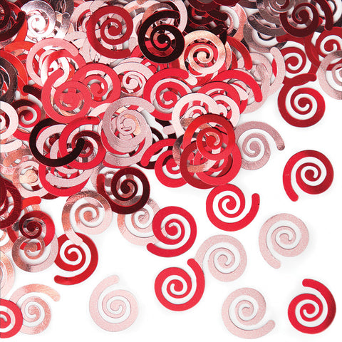 Red Bulk Party Confetti Swirls-Bulk Party Decorations-Creative Converting-12-
