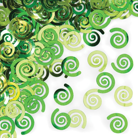 Lime Green Bulk Party Confetti Swirls-Bulk Party Decorations-Creative Converting-12-