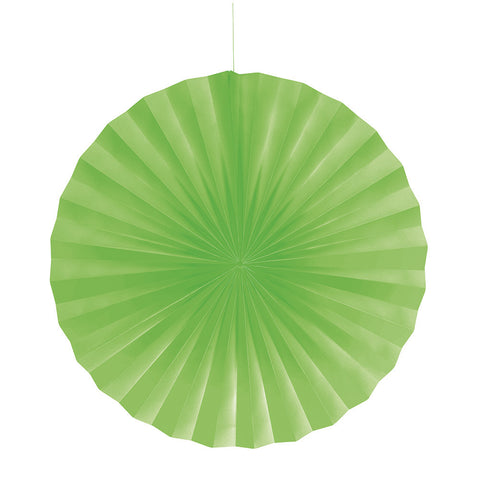 Lime Green Bulk Party Hanging Paper Fans Decorations