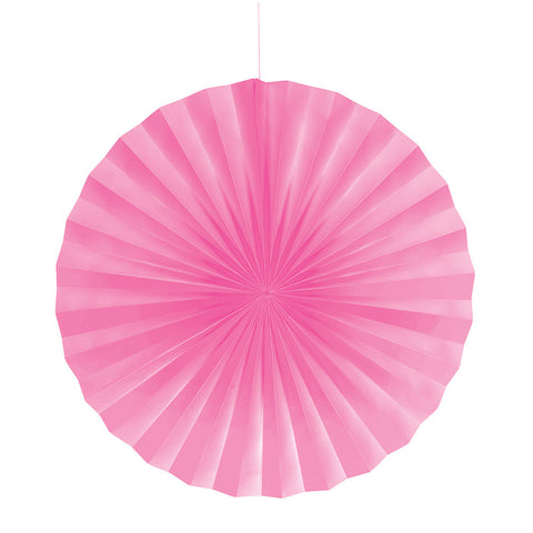 Candy Pink Bulk Party Hanging Paper Fans Decorations-Bulk Party Decorations-Creative Converting-12-