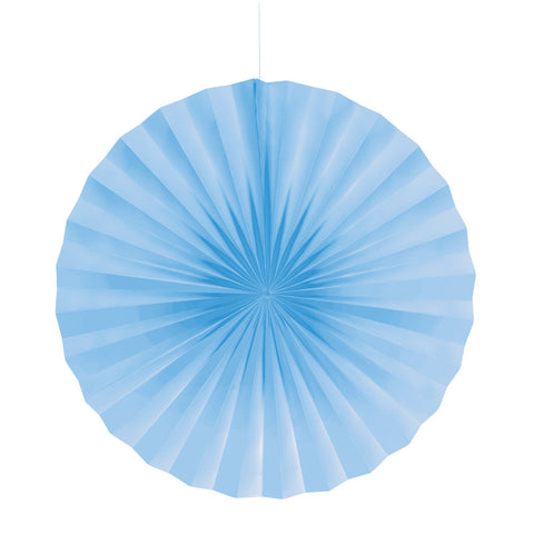 Pastel Baby Blue Bulk Party Hanging Paper Fans Decorations-Bulk Party Decorations-Creative Converting-12-
