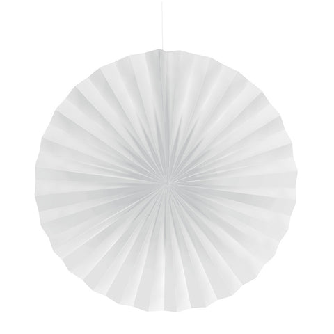 White Bulk Party Hanging Paper Fans Decorations-Bulk Party Decorations-Creative Converting-12-