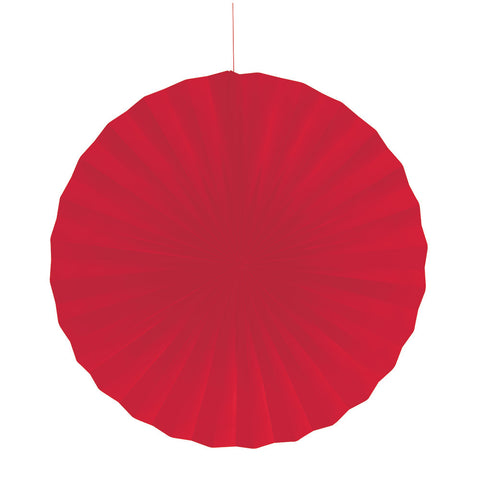 Red Bulk Party Hanging Paper Fans Decorations-Bulk Party Decorations-Creative Converting-12-