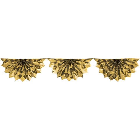 Gold Bulk Party Foil Bunting Garland Decorations, 6.5 ft.-Bulk Party Decorations-Creative Converting-6-