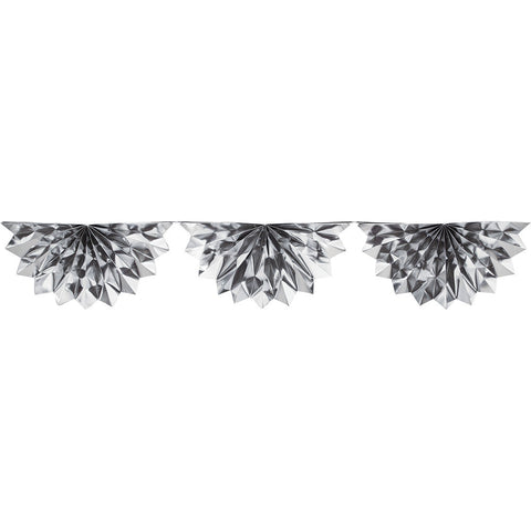 Silver Bulk Party Foil Bunting Garland Decorations, 6.5 ft.