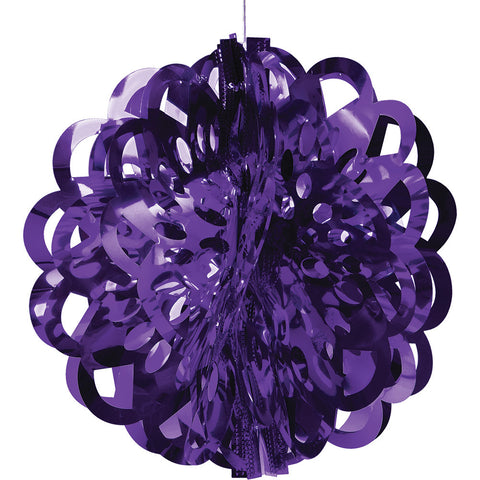 Purple Bulk Party Foil Diecut Ball Ceiling Hanging Decorations