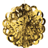 Gold Bulk Party Foil Diecut Ball Ceiling Hanging Decorations