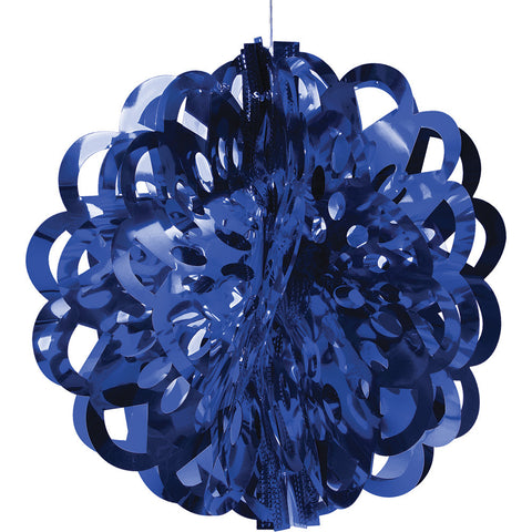 Blue Bulk Party Foil Diecut Ball Ceiling Hanging Decorations-Bulk Party Decorations-Creative Converting-12-