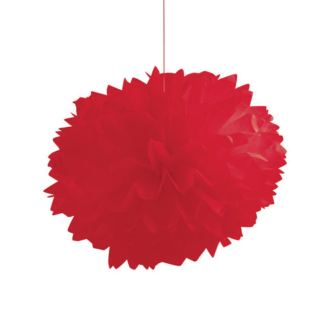 Red Bulk Party Paper Pom Poms Fluffy Tissue Balls