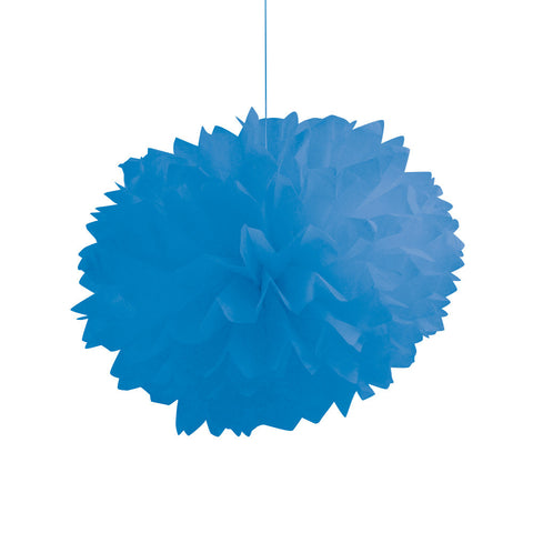 Blue Bulk Party Paper Pom Poms Fluffy Tissue Balls