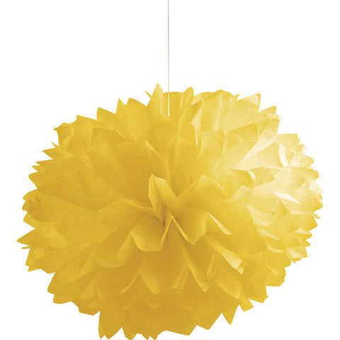 Yellow Bulk Party Paper Pom Poms Fluffy Tissue Balls