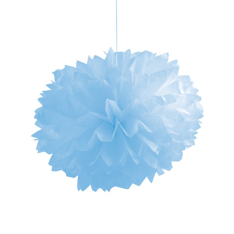 Pastel Baby Blue Bulk Party Paper Pom Poms Fluffy Tissue Balls