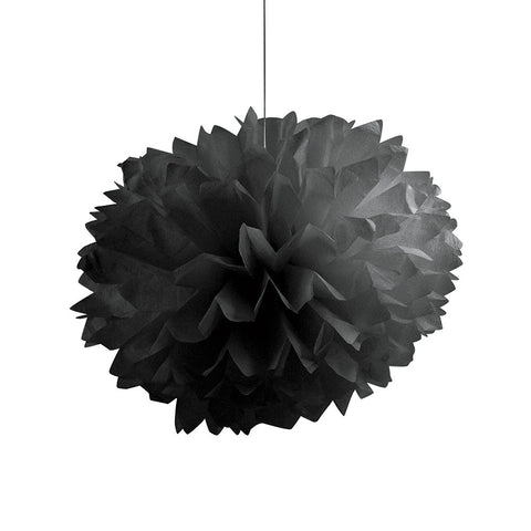 Black Bulk Party Paper Pom Poms Fluffy Tissue Balls-Bulk Party Decorations-Creative Converting-36-