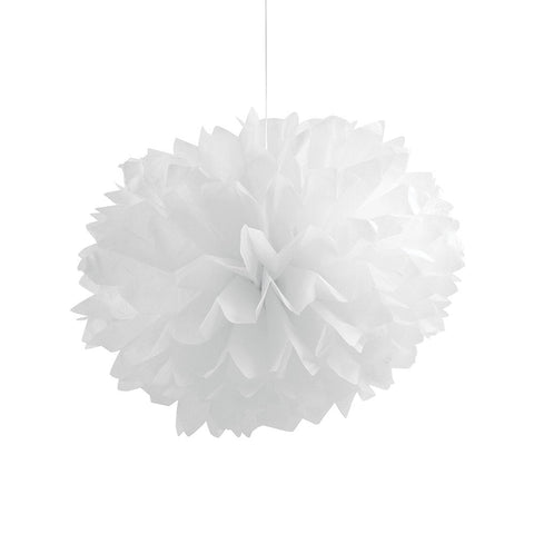 White Bulk Party Paper Pom Poms Fluffy Tissue Balls