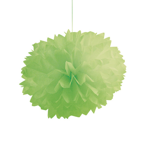 Lime Green Bulk Party Paper Pom Poms Fluffy Tissue Balls