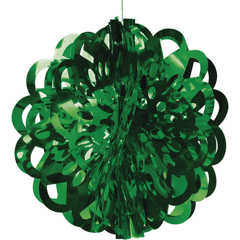 Green Bulk Party Foil Diecut Ball Ceiling Hanging Decorations-Bulk Party Decorations-Creative Converting-12-