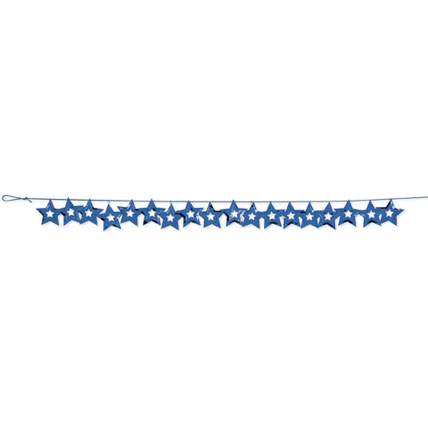 Blue Bulk Party Stars Garland Hanging Decorations, 9 ft.-Bulk Party Decorations-Creative Converting-12-