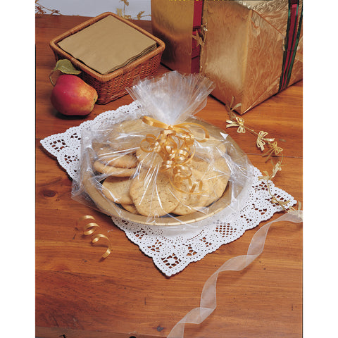 Clear Bulk Party Cellophane Gift Basket Bags Small