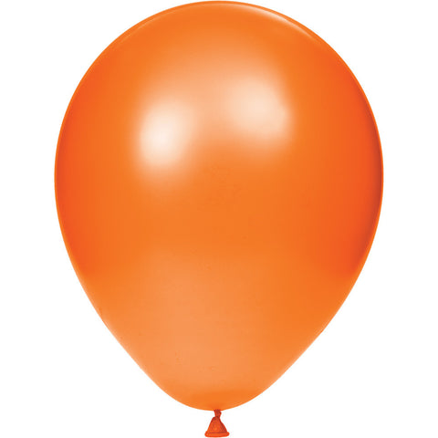 Orange Bulk Party Latex Balloons 12""