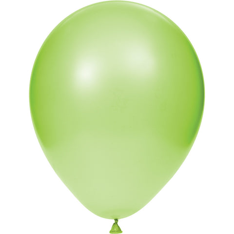 Lime Green Bulk Party Latex Balloons 12""