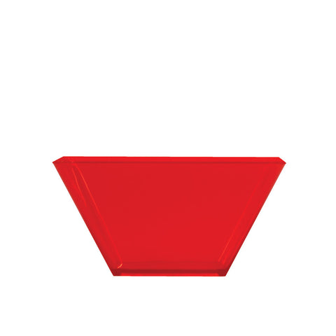 "Red Mini Disposable Bowl Square 3.5"" Containers"