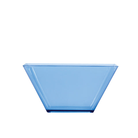 "Blue Mini Disposable Bowl Square 3.5"" Containers"