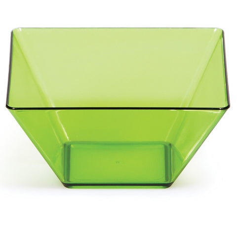 "Green Mini Disposable Bowl Square 3.5"" Containers"