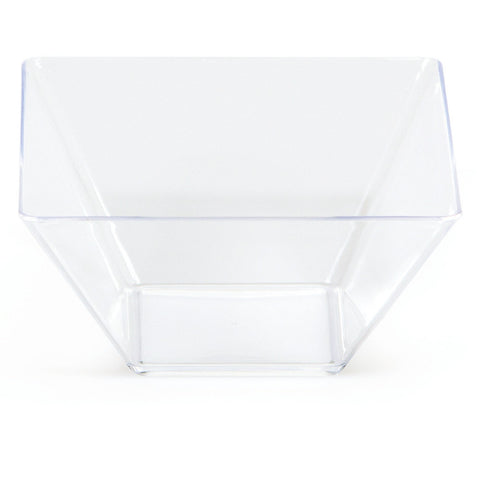 "Clear Mini Disposable Bowl Square 3.5"" Containers"
