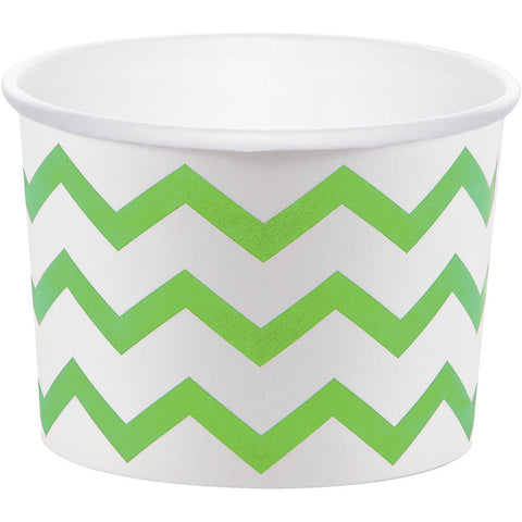 Lime Green Bulk Party Chevron Paper Treat Cups Case