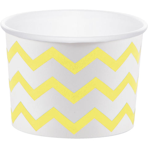 Yellow Bulk Party Chevron Paper Treat Cups Case-Disposable Catering Supplies-Creative Converting-72-