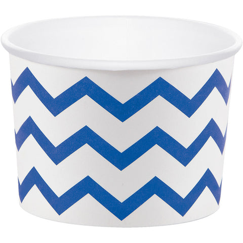 Blue Bulk Party Chevron Paper Treat Cups Case