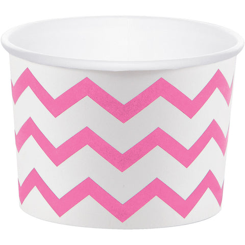 Candy Pink Bulk Party Chevron Paper Treat Cups Case