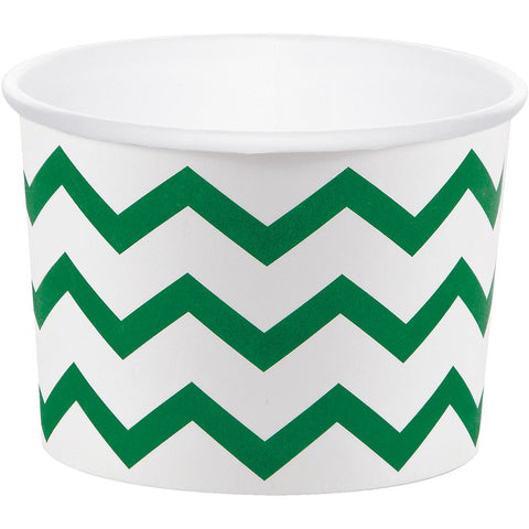 Emerald Green Bulk Party Chevron Paper Treat Cups Case-Disposable Catering Supplies-Creative Converting-72-