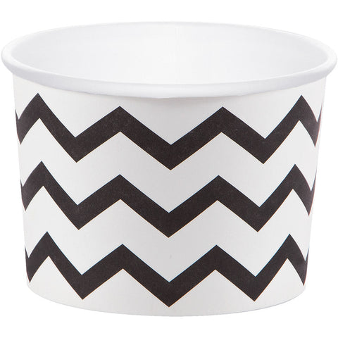 Black Bulk Party Chevron Paper Treat Cups Case-Disposable Catering Supplies-Creative Converting-72-