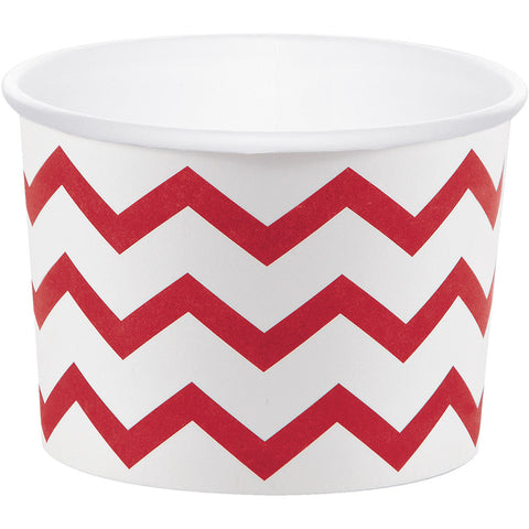 Red Bulk Party Chevron Paper Treat Cups Case