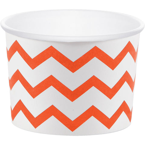 Orange Bulk Party Chevron Paper Treat Cups Case