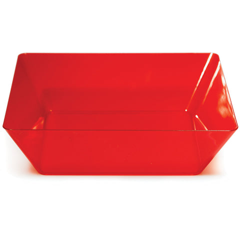 "Red Disposable Catering Bowl Square 11"" Containers"