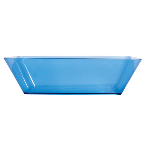 "Blue Disposable Catering Bowl Square 11"" Containers"