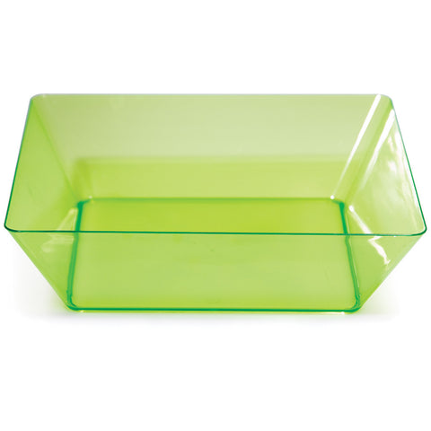 "Green Disposable Catering Bowl Square 11"" Containers"
