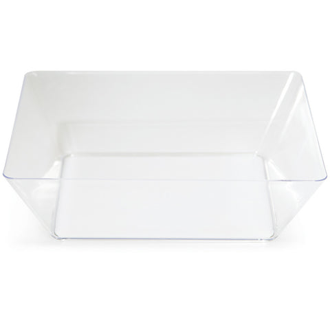 "Clear Disposable Catering Bowl Square 11"" Containers"