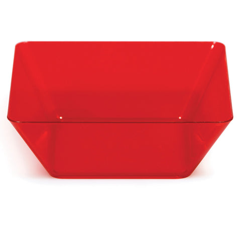 "Red Mini Disposable Bowl Square 5"" Containers"